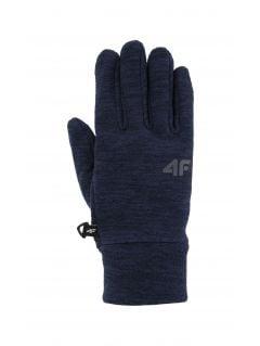 Mănuși pentru copii mari (băieți) JREM200 - bleumarin melanj