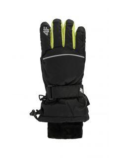 Mănuși de schi pentru copii mari (băieți) JREM401 - negru