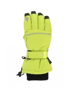 Mănuși de schi pentru copii mari (băieți) JREM401 - verde deschis