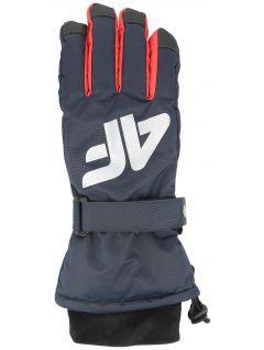 Mănuși de schi pentru copii mari (băieți) JREM404 - bleumarin