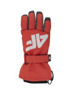 Mănuși de schi pentru copii mari (băieți) JREM404 - roșu