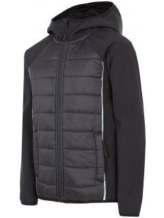 Jacheta softshell pentru copii mari (băieți) JSFM403 - negru