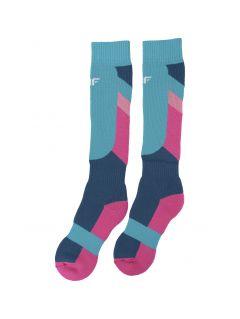 Șosete de schi pentru copii mari (fete) JSODN400 - multicolor