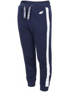 Pantaloni de molton pentru copii mari (fete) JSPDD207 - bleumarin închis