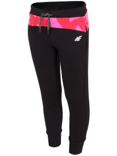 Pantaloni de molton pentru copii mari (fete) JSPDD209- negru