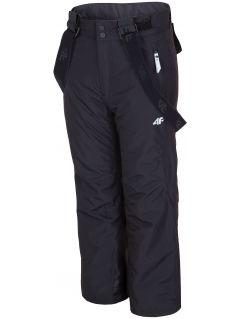 Pantaloni de schi pentru copii mari (fete) JSPDN400 - negru profund