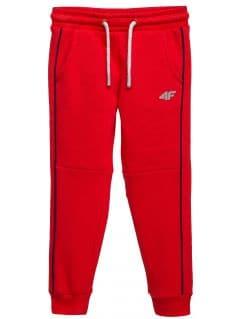 Pantaloni de molton pentru copii mici (băieți) JSPMD104 - roșu