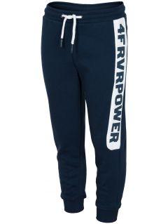 Pantaloni de molton pentru copii mici (băieți) JSPMD212 - bleumarin