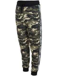 Pantaloni de molton pentru copii mari (băieți) JSPMD213 - kaki melanj