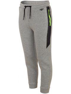 Pantaloni de sport pentru copii mari (băieți) JSPMTR401 - gri deschis melanj