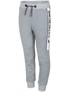 Pantaloni de sport pentru copii mari (băieți) JSPMTR405 - gri melanj