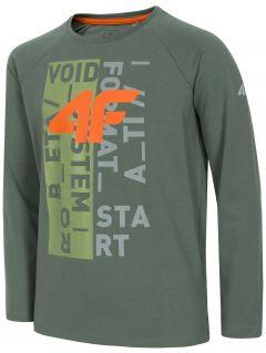 Tricou cu mânecă lungă pentru copii mari (băieți) JTSML220A - kaki