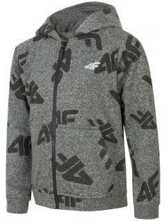 Bluza pentru copii mari (băieți) JBLM217 - gri închis melanj