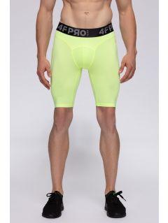 Pantaloni scurți baselayer pentru bărbați 4FPro SPMF406 - galben neon