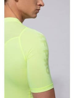 Tricou baselayer pentru bărbați 4FPro TSMF400 - galben neon