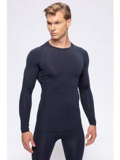 Tricou baselayer cu mânecă lungă pentru bărbați 4FPro TSMLF402 - bleumarin