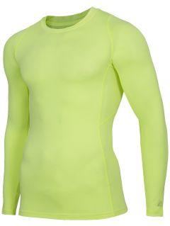 Tricou baselayer cu mânecă lungă pentru bărbați 4FPro TSMLF402 - galben neon