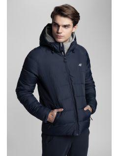 Jachetă din puf pentru bărbați Kamil Stoch Collection  KUM500 - bleumarin