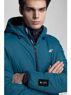 Jachetă din puf pentru bărbați Kamil Stoch Collection KUM500 - verde marin