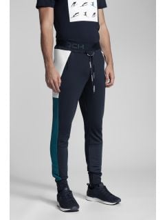 Pantaloni de molton pentru bărbați Kamil Stoch Collection SPMD500 - bleumarin