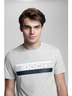 Tricou pentru bărbați Kamil Stoch Collection TSM503 - gri melanj