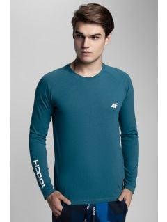 Tricou cu mânecă lungă pentru bărbați Kamil Stoch Collection TSML500 - verde marin