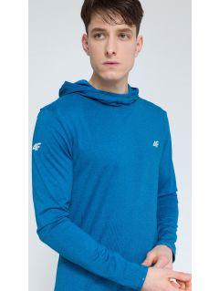 Bluza de antrenament pentru bărbaţi BLMF003 - melanj denim