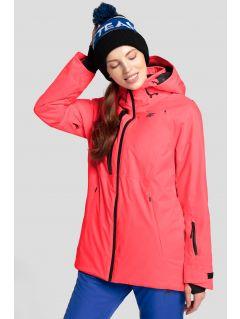 Jachetă de schi pentru femei KUDN206 - somon roz neon