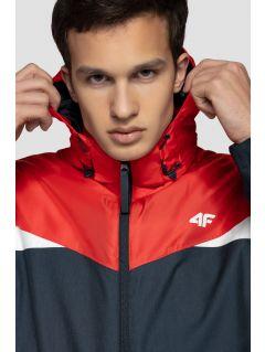 Jachetă de schi pentru bărbați KUMN251 - bleumarin închis melanj