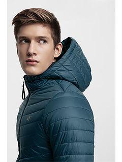 Jacheta din puf pentru bărbați KUMP301 - verde marin