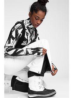 Pantaloni de schi pentru femei SPDN100 - alb