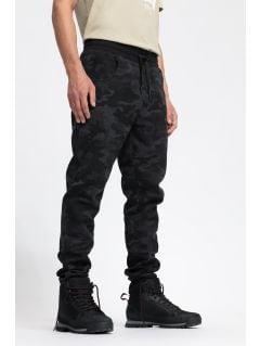 Pantaloni de molton de bărbați SPMD204 - negru profund allover