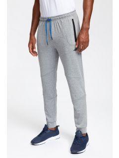 Pantaloni de antrenament pentru bărbați SPMTR200 - gri înspicat lumină melanj
