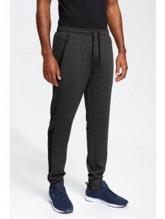 Pantaloni de antrenament pentru bărbați SPMTR202 - gri înspicat întuneric