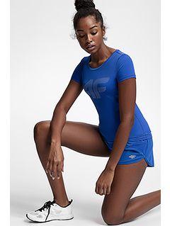 Tricou de antrenament pentru femei TSDF107 - cobalt