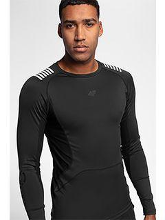Tricou de antrenament cu mânecă lungă pentru bărbați TSMLF150 - negru profund