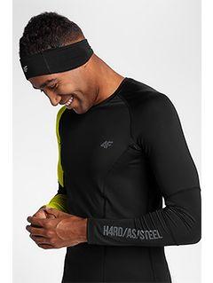 Tricou de antrenament cu mânecă lungă pentru barbați TSMLF152 - negru allover
