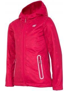 Jachetă softshell pentru copii mari (fete) JSFD400 - roșu