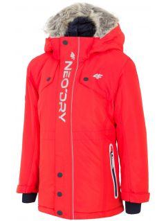 Jacheta de oraș pentru copii mari (băieți) JKUM201 - roșu