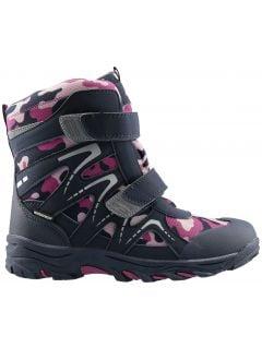 Încălțăminte de iarnă pentru copii mari (fete) JOBDW406 - violet închis