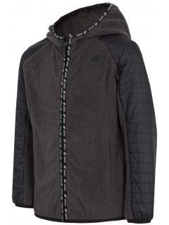 Bluza din fleece pentru copii mari (băieți) JPLM402 - gri închis