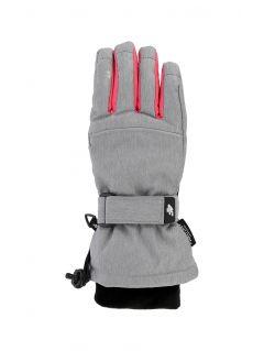 Mănuși de schi pentru copii mari (fete) JRED402 - gri melanj