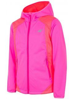 Jacheta softshell pentru copii mari (fete) JSFD202 - roz