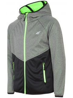 Jacheta softshell pentru copii mari (băieți) JSFM400 - gri înspicat lumină