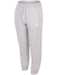Pantaloni de molton pentru copii mari (băieți) JSPMD211A - gri înspicat lumină