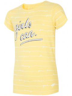 Tricou pentru copii mari (fete) JTSD202A - galben