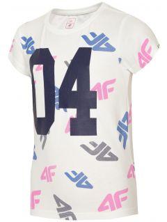 Tricou pentru copii mari (fete) JTSD210 - alb