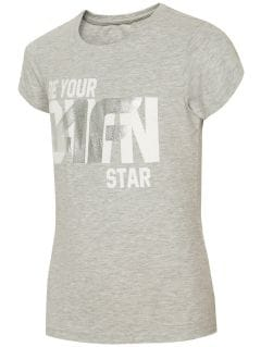 Tricou pentru copii mari (fete) JTSD210A - gri deschis melanj
