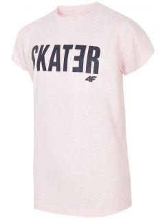 Tricou pentru copii mari (băieți) JTSM200 - roz deschis melanj