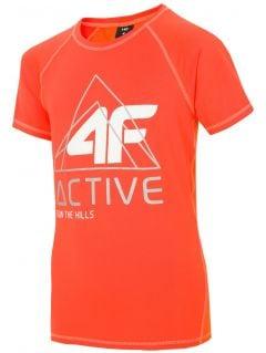 Tricou de sport pentru copii mari (băieți) JTSM405 - portocaliu neon